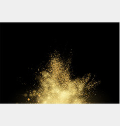 gold glitter dust texture design element golden vector image