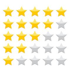 Gold rating stars on white background vector