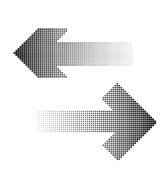 halftone arrow icon vector image
