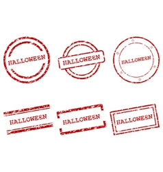 Halloween stamps vector image