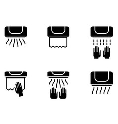 hand dryer icons vector image