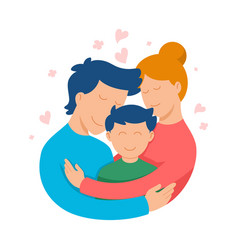 happy-family vector image