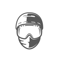 helmet and mask isolated on white background vector image