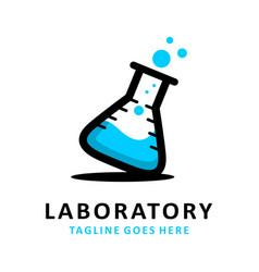 laboratory logo vector image
