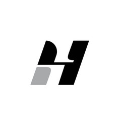 letter initial h h4 icon logocreative h vector image