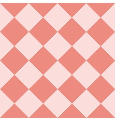 Light Pink Coral Chess Board Diamond Background vector image