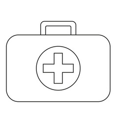 line art black and white first aid kit vector image