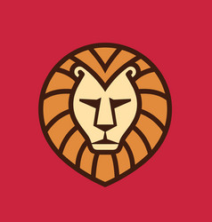 Lion head - logo template creative vector