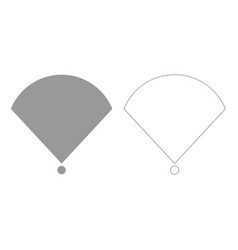 Location or radar grey set icon vector