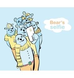 many bears do self photo vector image
