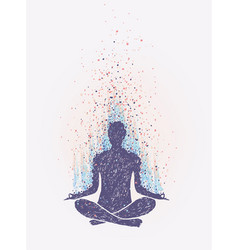 Meditation enlightenment sensation of vibrations vector