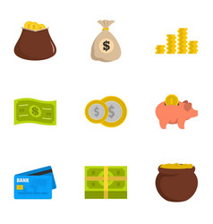 Necessary means icons set flat style vector