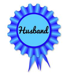 New husband rosette vector