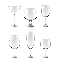 object cocktail glasses vector image