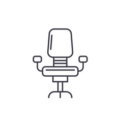 office chair line icon concept office chair vector image