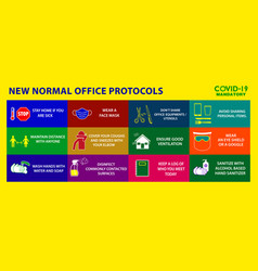 office protocol poster or public health vector image