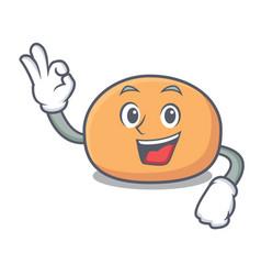 Okay mochi character cartoon style vector