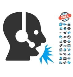 Operator Speech Icon With Free Bonus vector