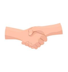 People handshake icon cartoon style vector