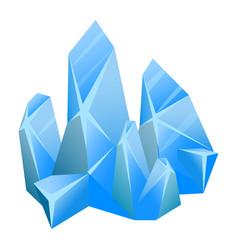 Piece ice blue clean sparkling frozen water vector