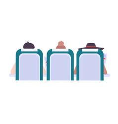 plane passengers vector image