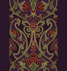 Purple pattern with stylized birds vector