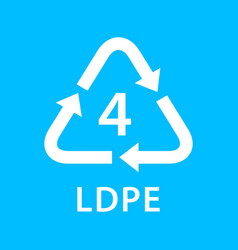 Recycle arrow triangle ldpe types 4 isolated on vector