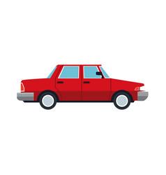 Red sedan car vehicle transport vector
