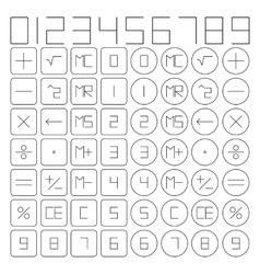 Set of mathematical symbols vector