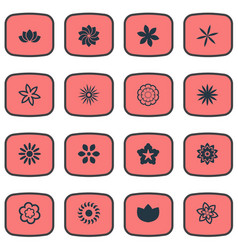 Set of simple rose icons vector