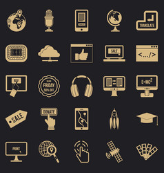 site building icons set simple style vector image
