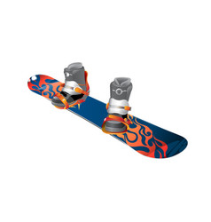 snowboard realistic wooden vector image