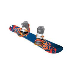 Snowboard realistic wooden vector