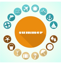 summer icons 3 vector image