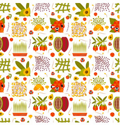 Super food seamless pattern vector