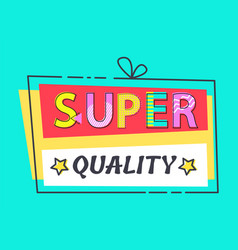 Super quality label stars promo advert discount vector