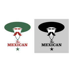 Symbolic image of mexican man with mustache and vector