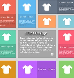 T-shirt Clothes icon sign Set of multicolored vector image