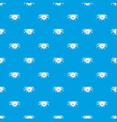 Tarantula pattern seamless blue vector