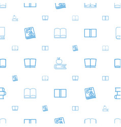 textbook icons pattern seamless white background vector image