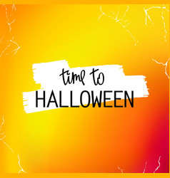 time to halloween vector image