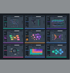 ui kit for infographics charts vector image