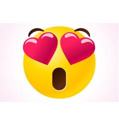 valentines emoji symbol vector image
