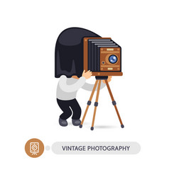vintage photographer cartoon character vector image