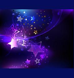 violet star vector image