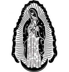 virgin guadalupe with mexican lucha libre vector image