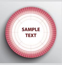 white pink target banner vector image