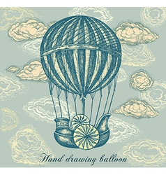 Balloon Transport Background vector image