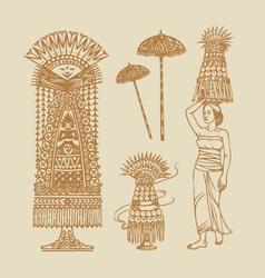 Lamak Balinese Element Decorations vector image vector image