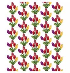 Tulip Flowers Bouquet pattern vector image vector image